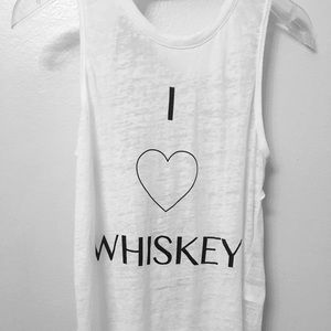 White Graphic Tank Top. Chaser Brand. Novelty TTop